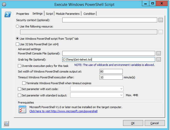 Telnet with PowerShell via RES One Automation | Robin Plomp